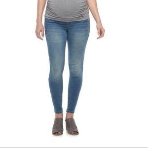 Denim - Skinny leg full-panel maternity jeggings